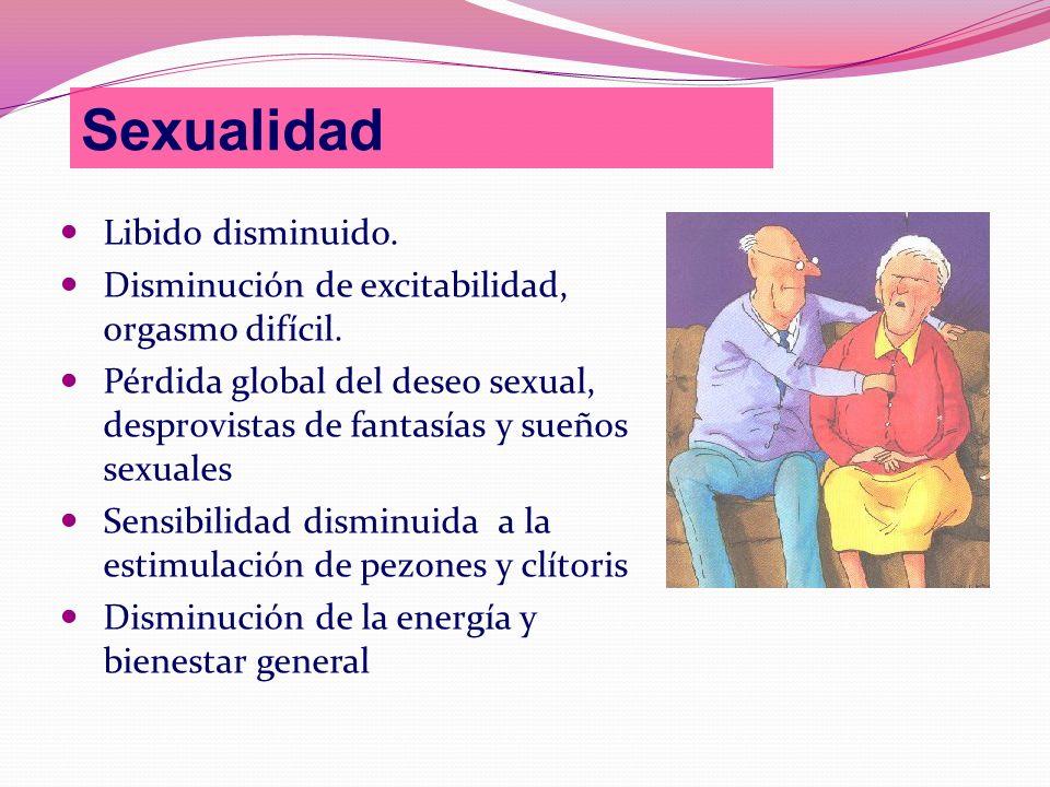 Sexualidad Libido disminuido.