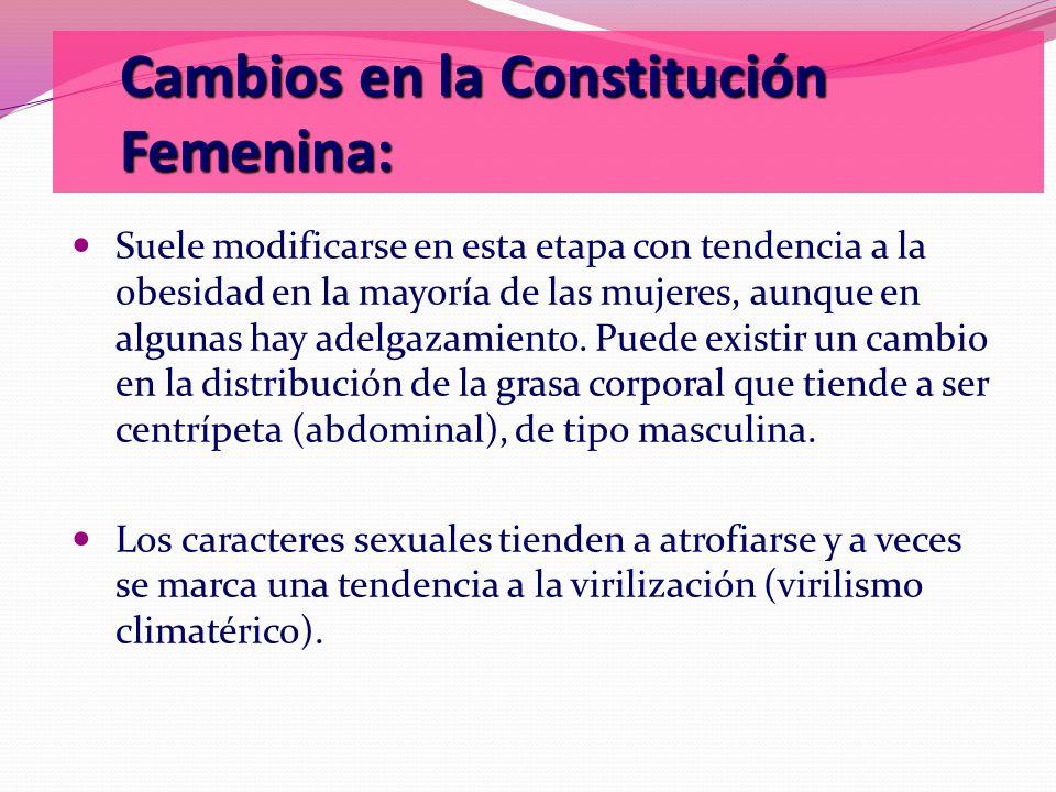 Cambios en la Constitución Femenina: