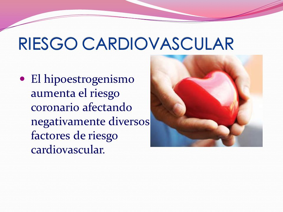 El hipoestrogenismo aumenta el riesgo coronario afectando negativamente diversos factores de riesgo cardiovascular.