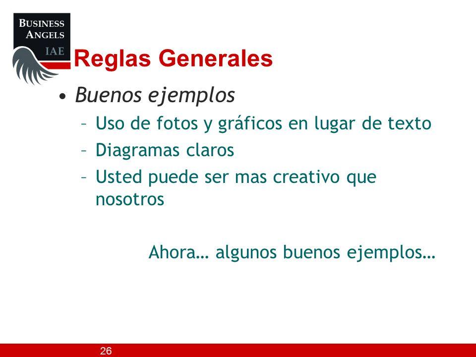 Reglas Generales Buenos ejemplos