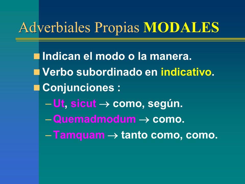 Adverbiales Propias MODALES