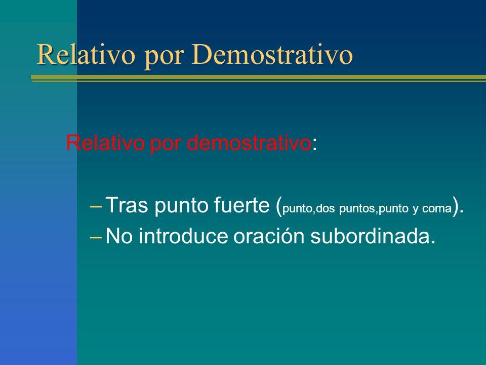 Relativo por Demostrativo