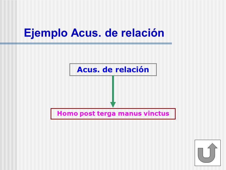 Ejemplo Acus. de relación