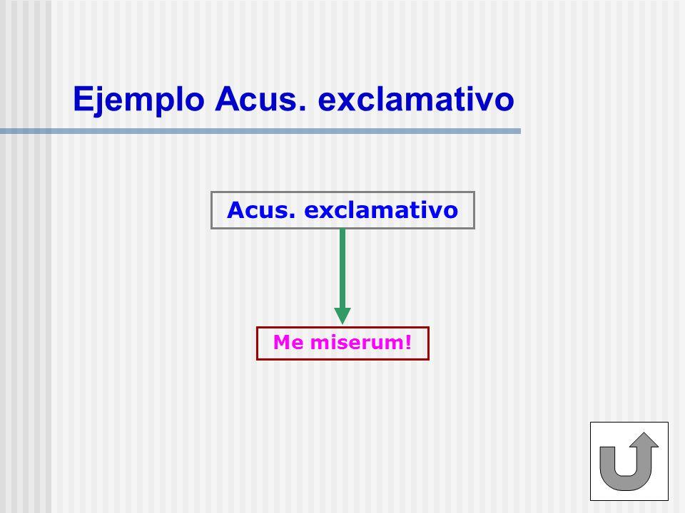 Ejemplo Acus. exclamativo