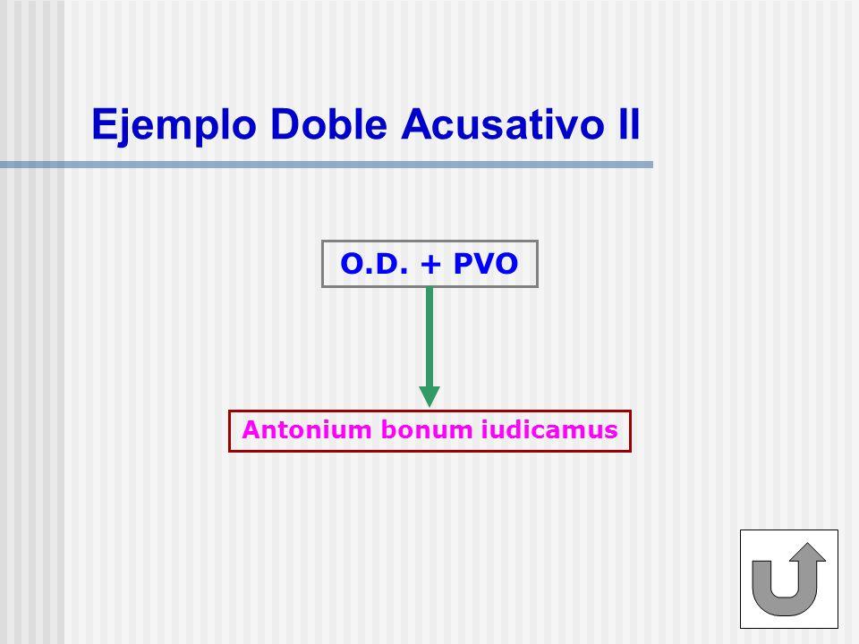 Ejemplo Doble Acusativo II