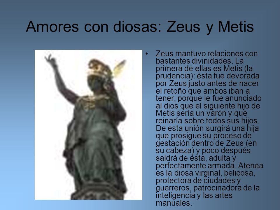 Amores con diosas: Zeus y Metis