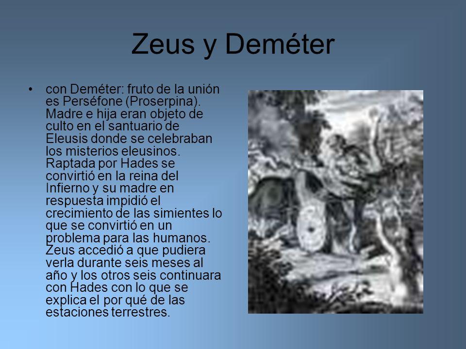 Zeus y Deméter