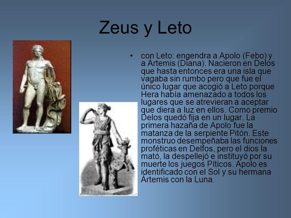 Zeus y Leto