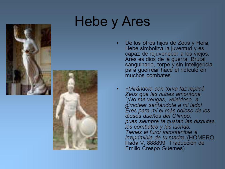 Hebe y Ares