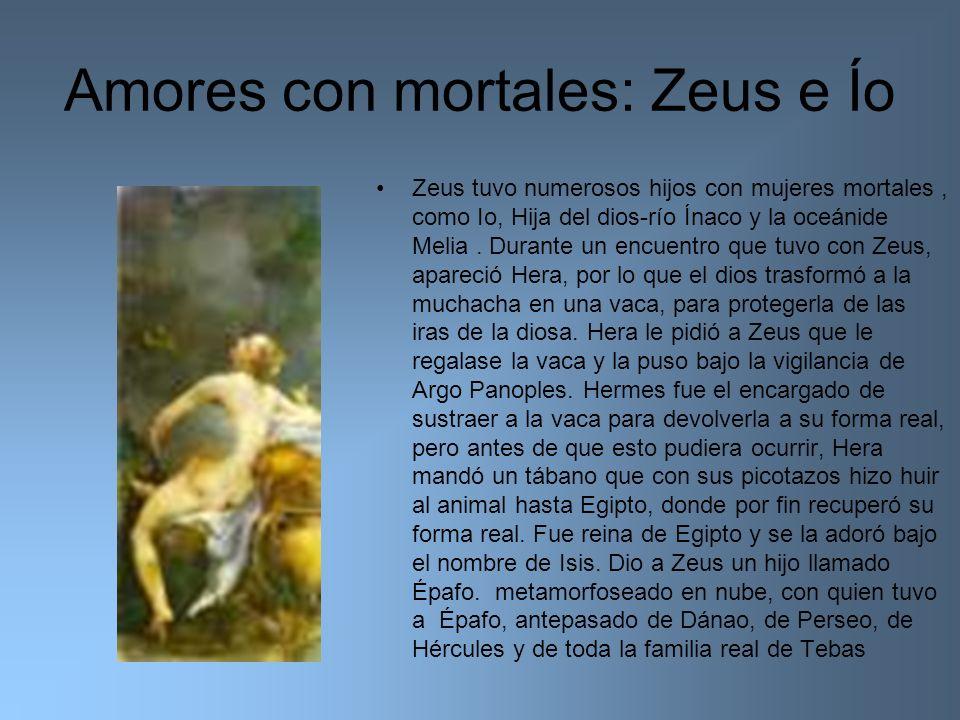 Amores con mortales: Zeus e Ío