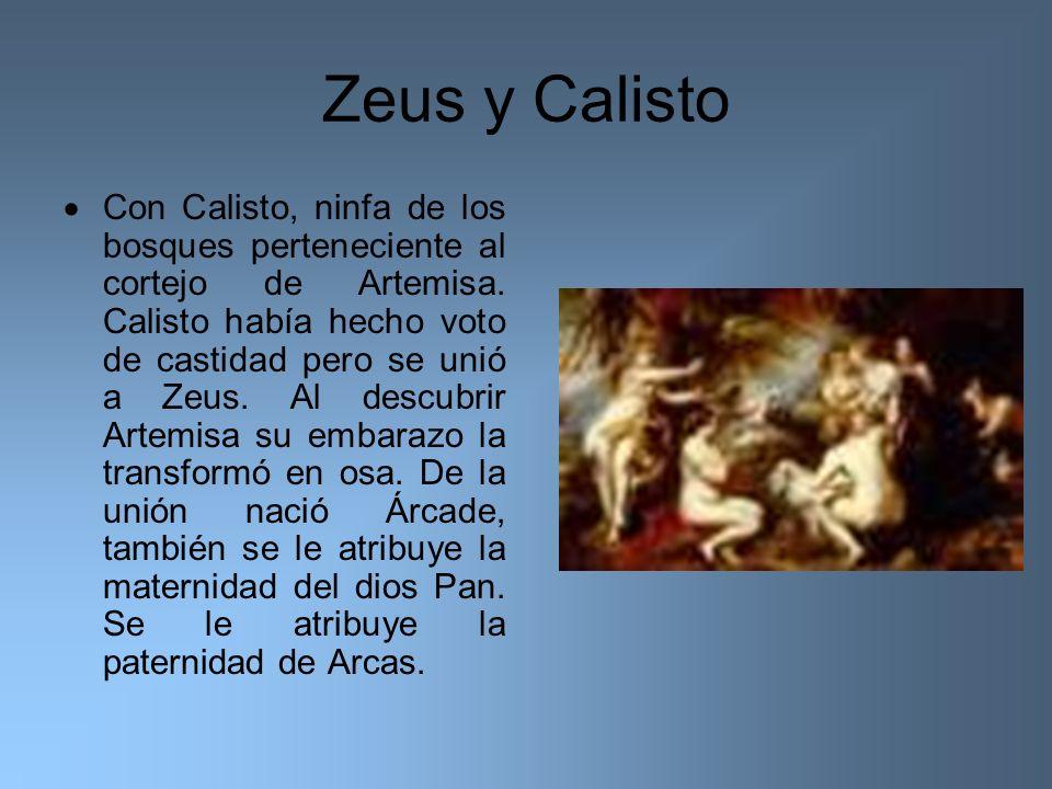 Zeus y Calisto