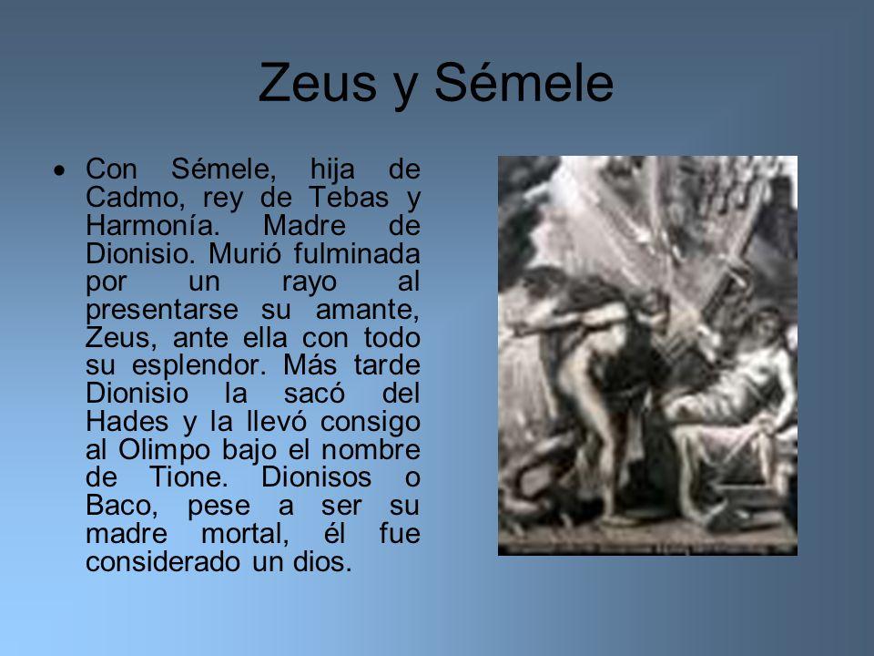 Zeus y Sémele