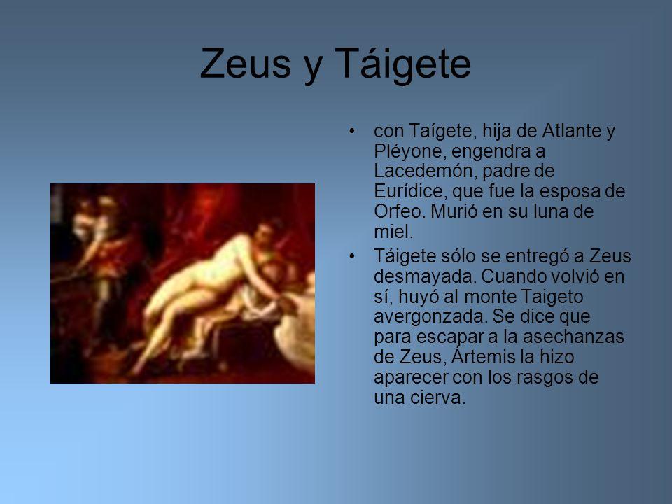 Zeus y Táigete