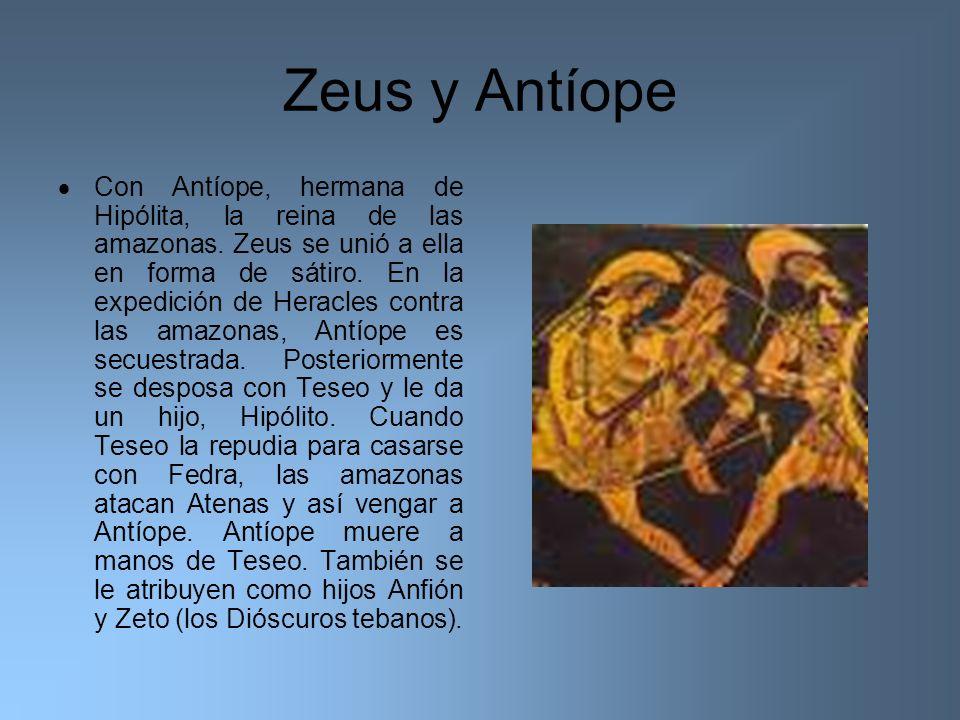 Zeus y Antíope
