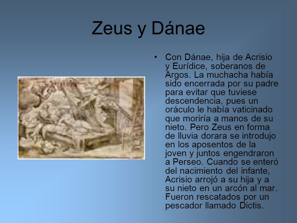 Zeus y Dánae