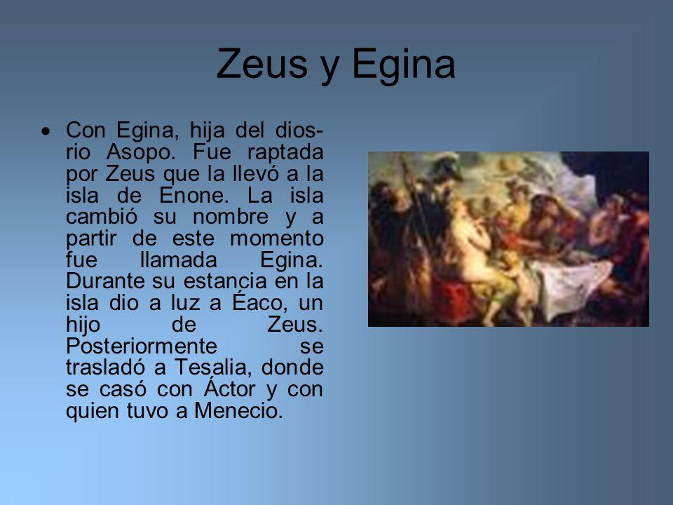 Zeus y Egina