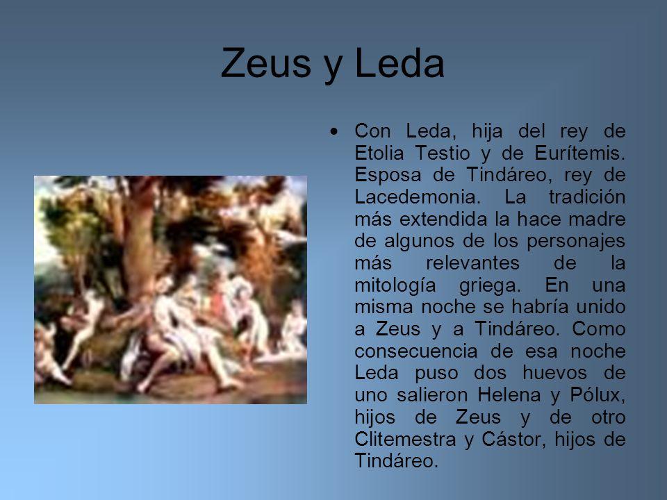 Zeus y Leda