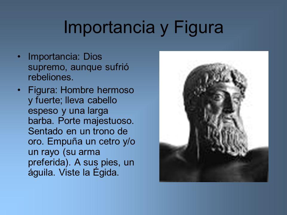 Importancia y Figura Importancia: Dios supremo, aunque sufrió rebeliones.