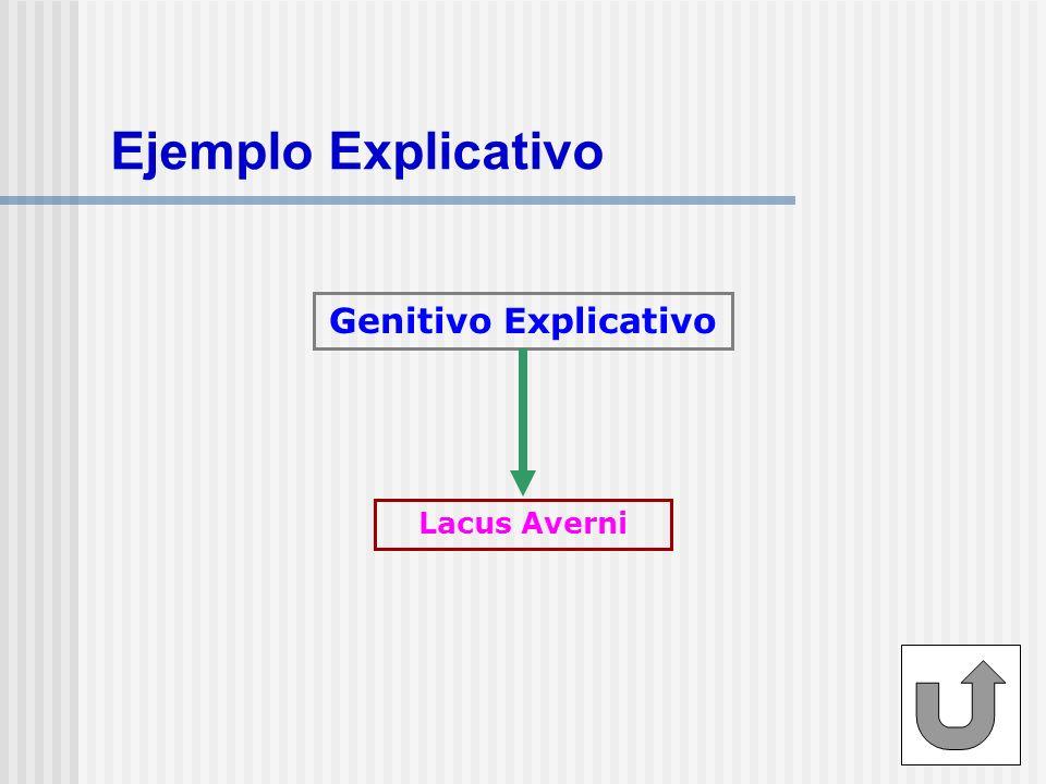 Ejemplo Explicativo Genitivo Explicativo Lacus Averni