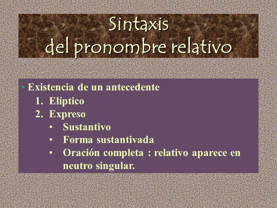Sintaxis del pronombre relativo