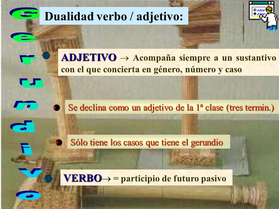Dualidad verbo / adjetivo: