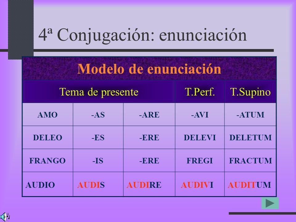 4ª Conjugación: enunciación