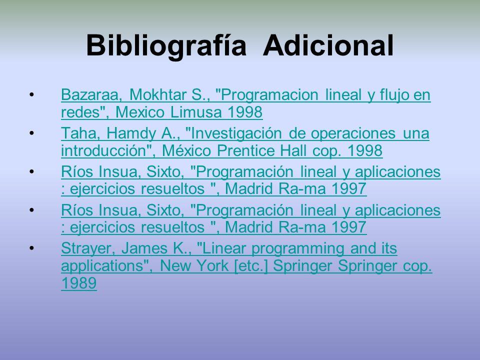 Bibliografía Adicional