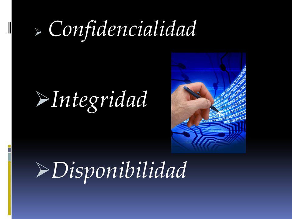 Confidencialidad Integridad Disponibilidad