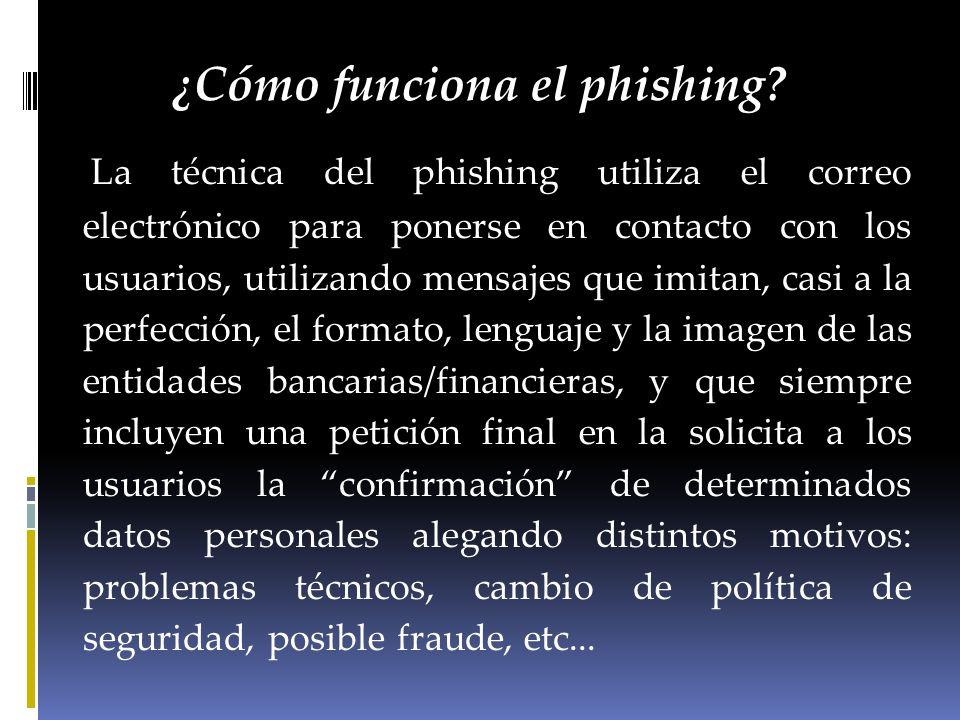 ¿Cómo funciona el phishing