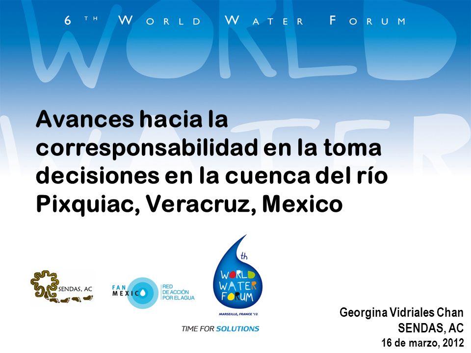 Avances hacia la corresponsabilidad en la toma decisiones en la cuenca del río Pixquiac, Veracruz, Mexico