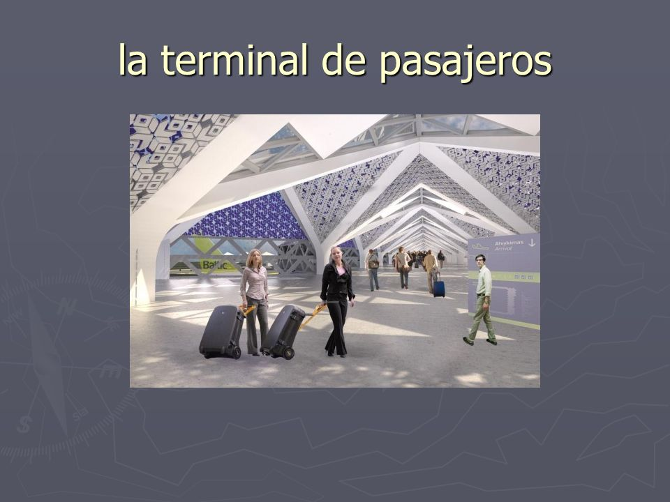 la terminal de pasajeros