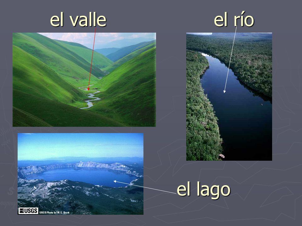 el valle el río el lago