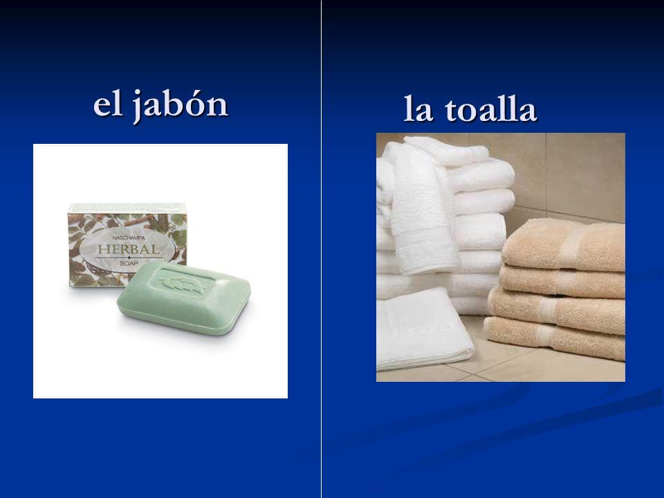 el jabón la toalla