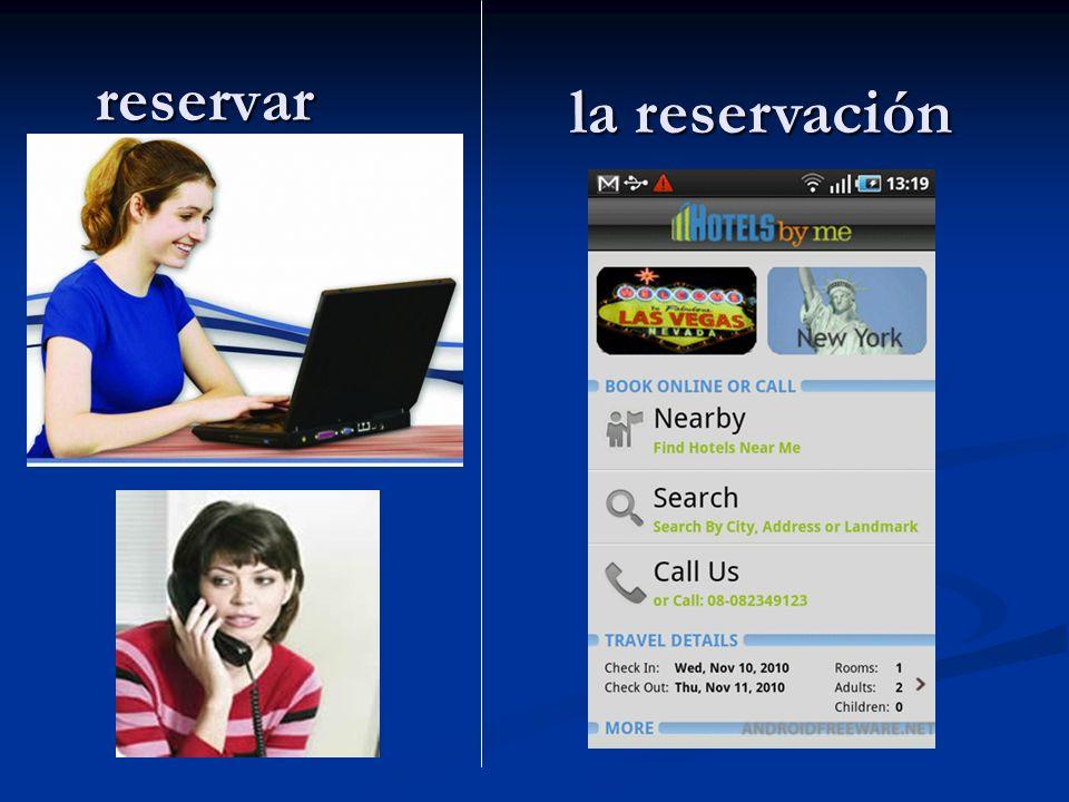 reservar la reservación