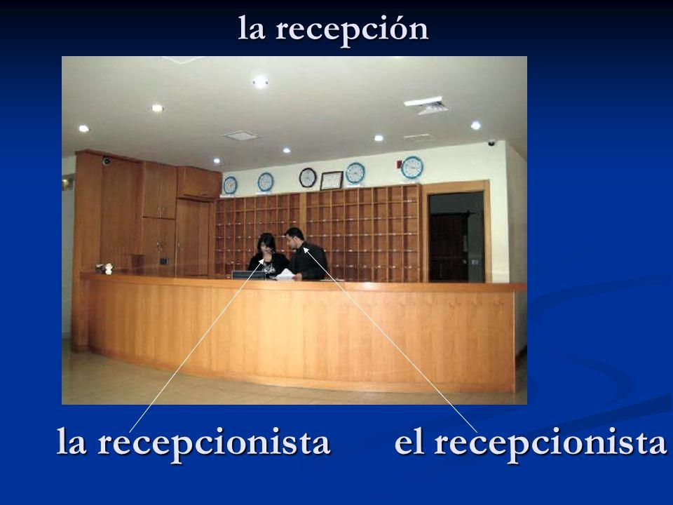 la recepcionista el recepcionista