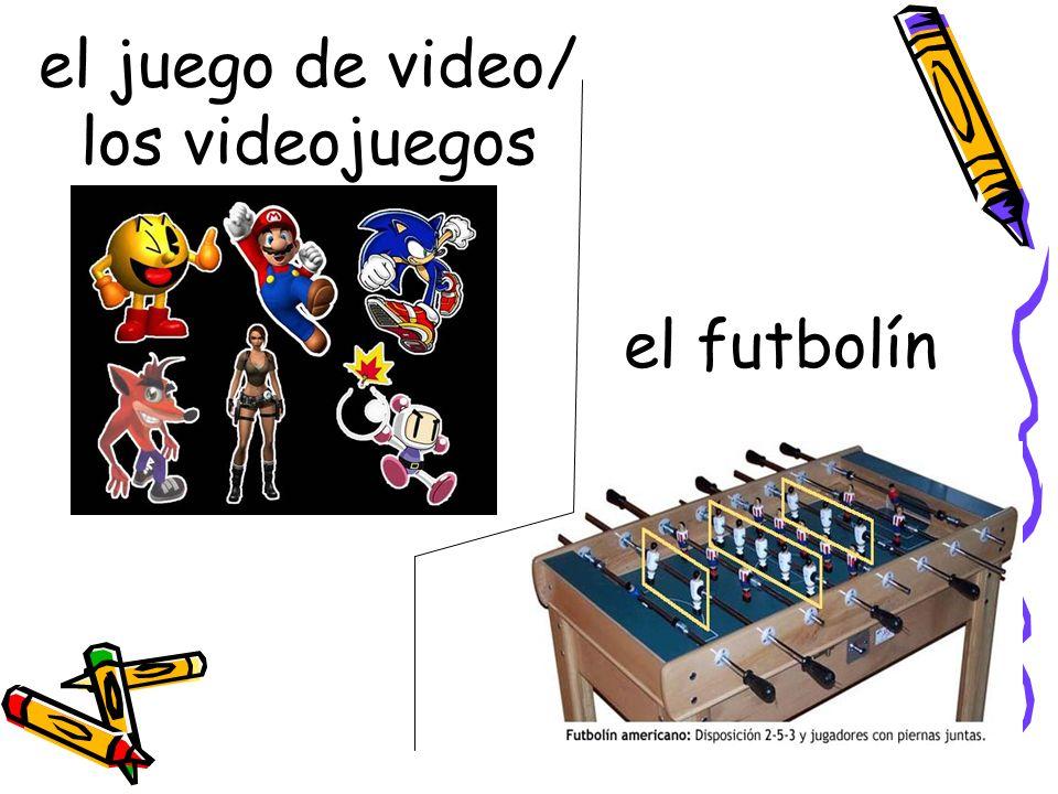 el juego de video/ los videojuegos