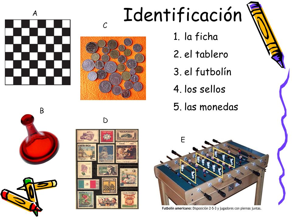 Identificación la ficha el tablero el futbolín los sellos las monedas