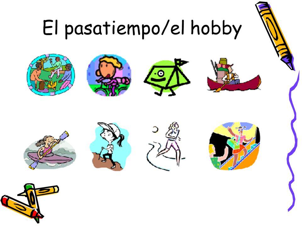 El pasatiempo/el hobby