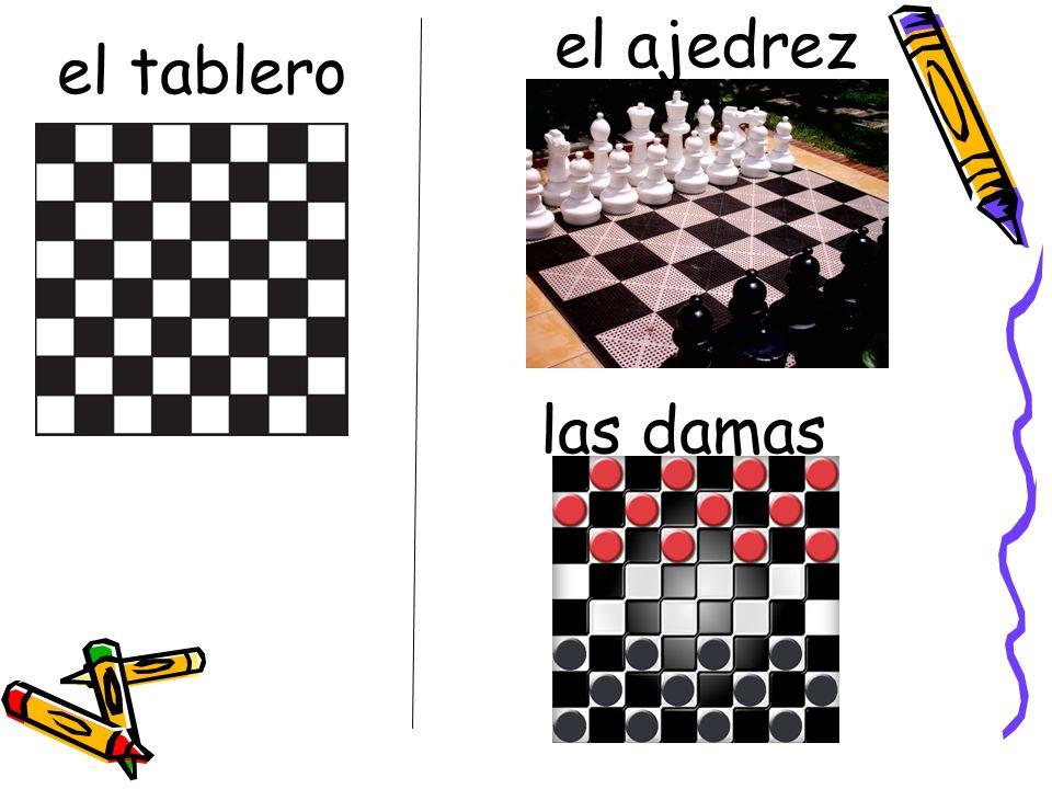 el tablero el ajedrez las damas