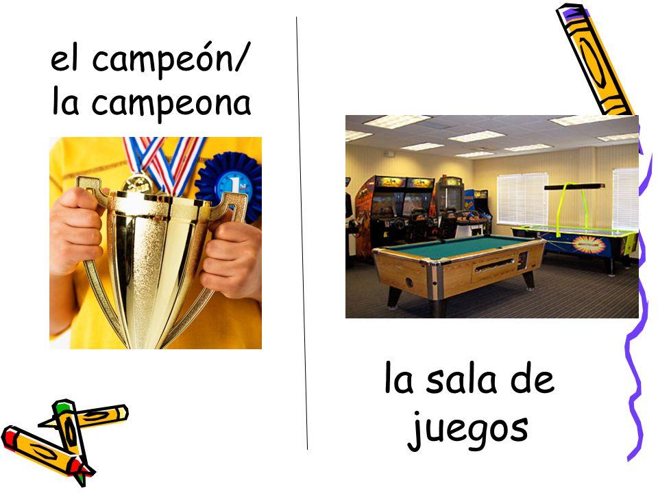 el campeón/ la campeona