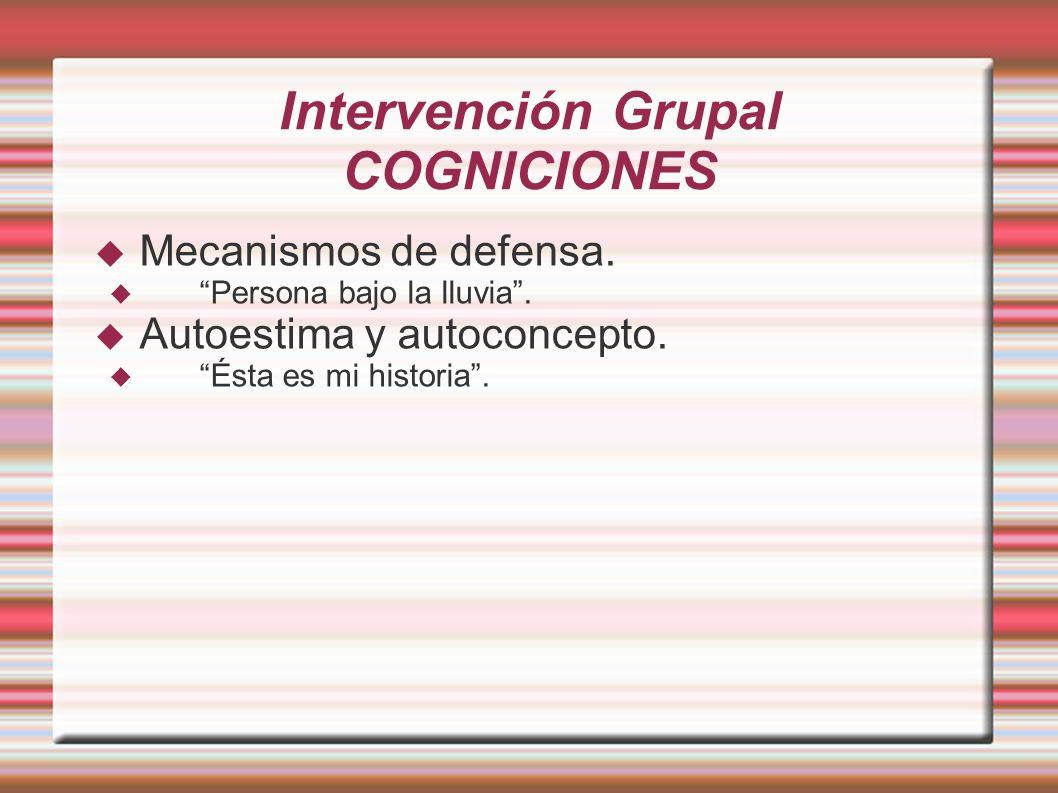 Intervención Grupal COGNICIONES