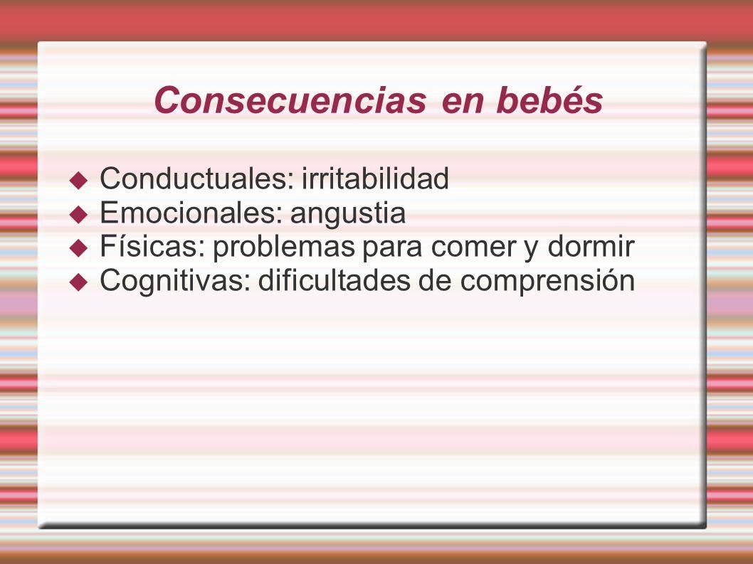 Consecuencias en bebés