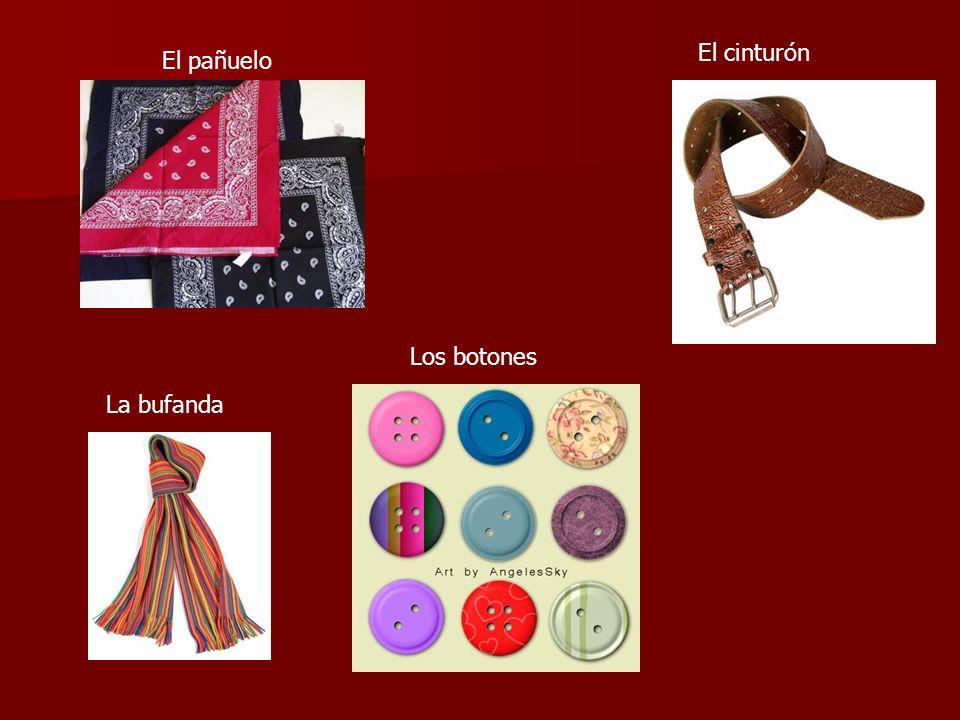 El cinturón El pañuelo Los botones La bufanda