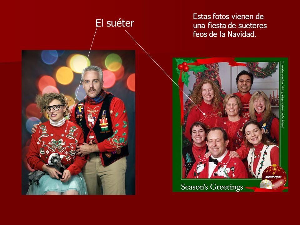 Estas fotos vienen de una fiesta de sueteres feos de la Navidad.