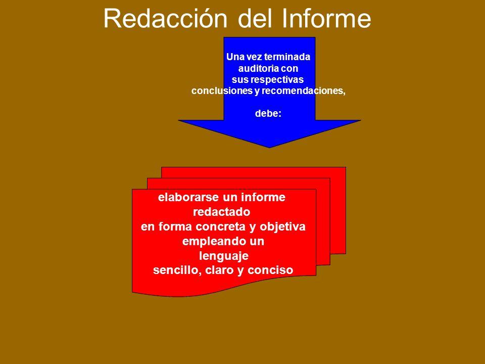 Redacción del Informe elaborarse un informe redactado