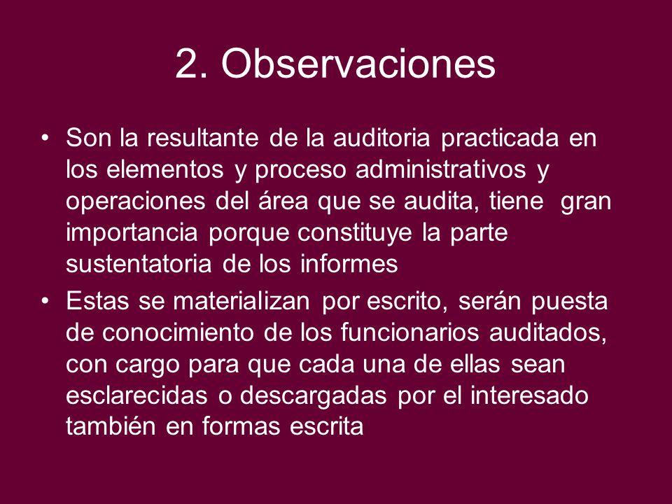 2. Observaciones