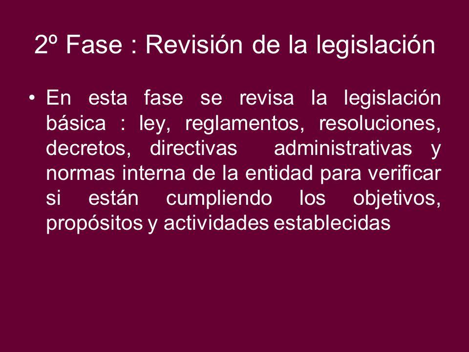 2º Fase : Revisión de la legislación