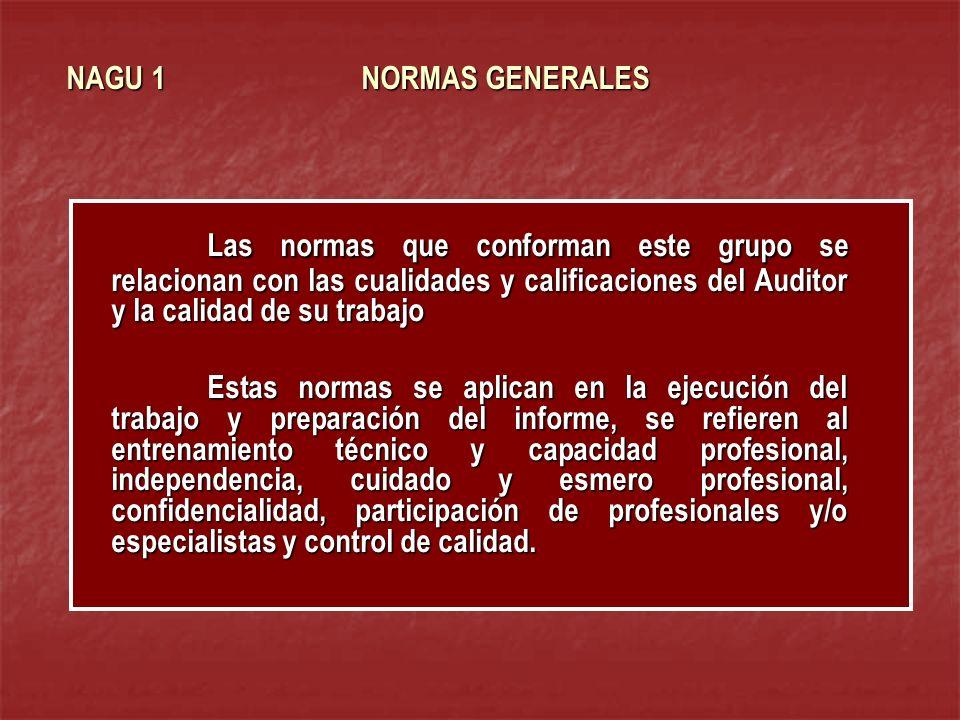 NAGU 1 NORMAS GENERALES