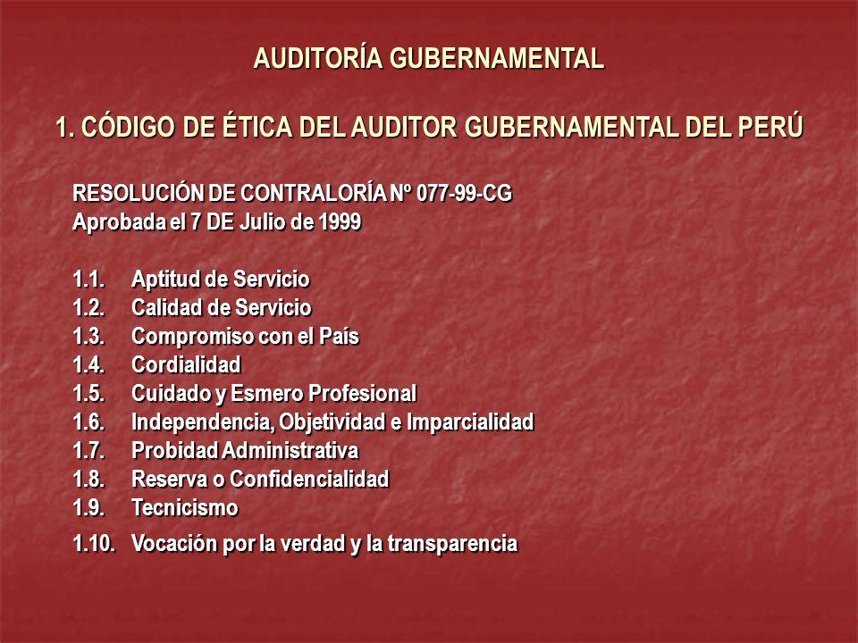 AUDITORÍA GUBERNAMENTAL 1