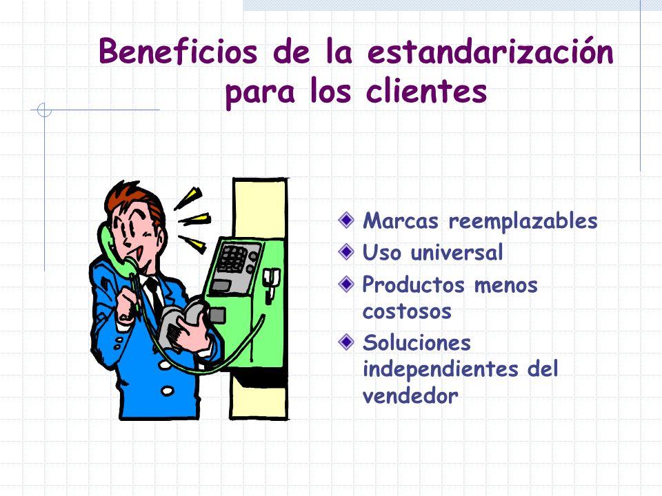 Beneficios de la estandarización para los clientes